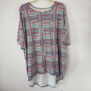 LulaRoe Irma 2XL Top Tunic Country Quilt